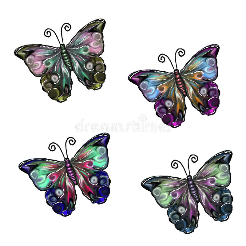 Beautiful Flutters Set 2 royalty free stock photos