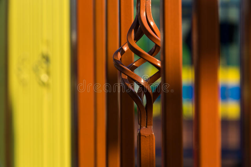 Beautiful forging fence stock images