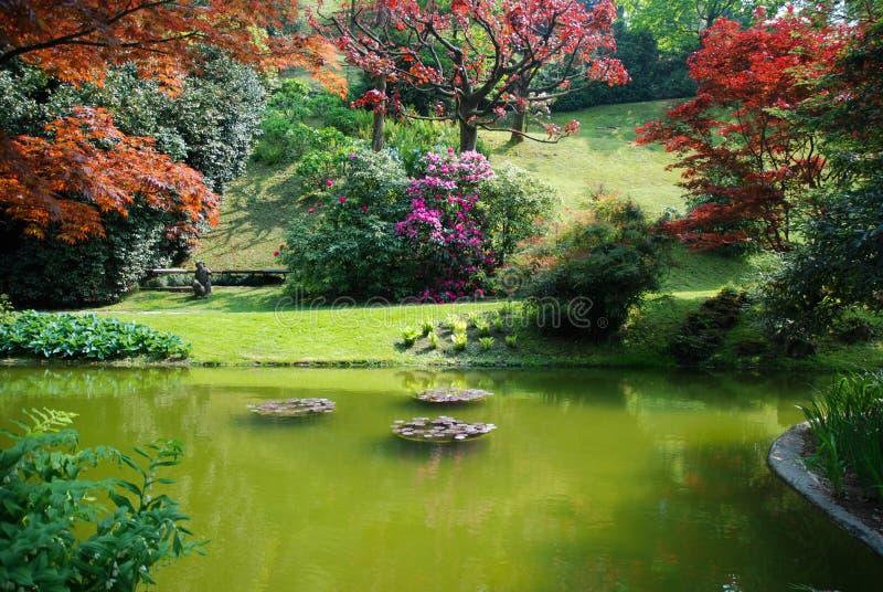 Beautiful formal garden, Italy stock photography