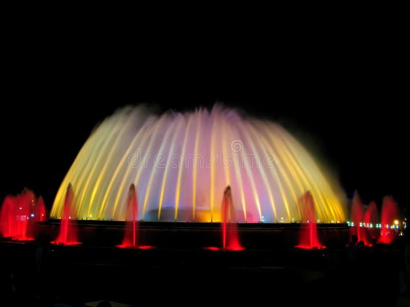 Beautiful fountain in Barcelona royalty free stock image