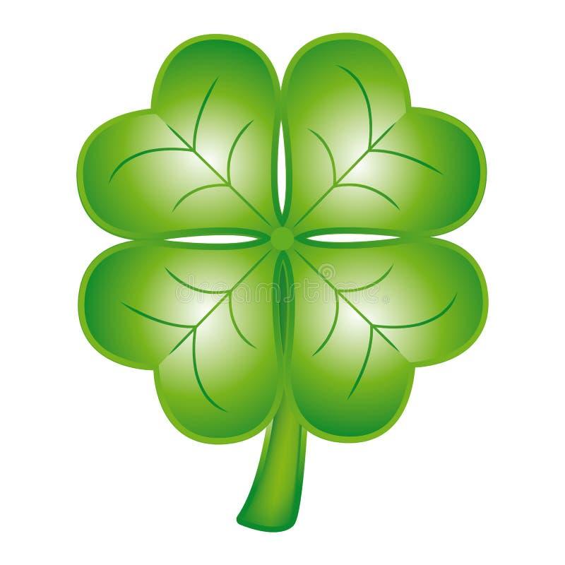 Four Leaf Clover Luck Symbol Vector Icon Stock Vector