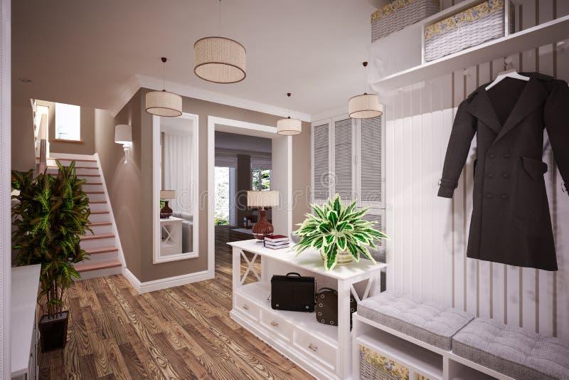 Beautiful Foyer interior stock image