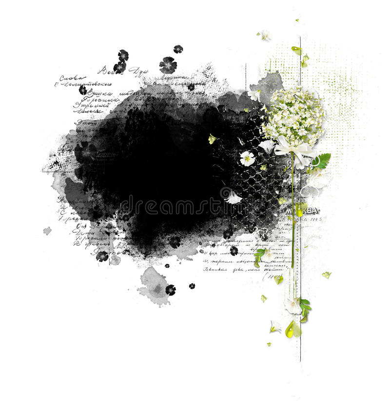 Beautiful frame with flowers stock photos