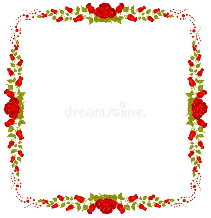 Beautiful frame from roses stock vector. Illustration of flourishes ...