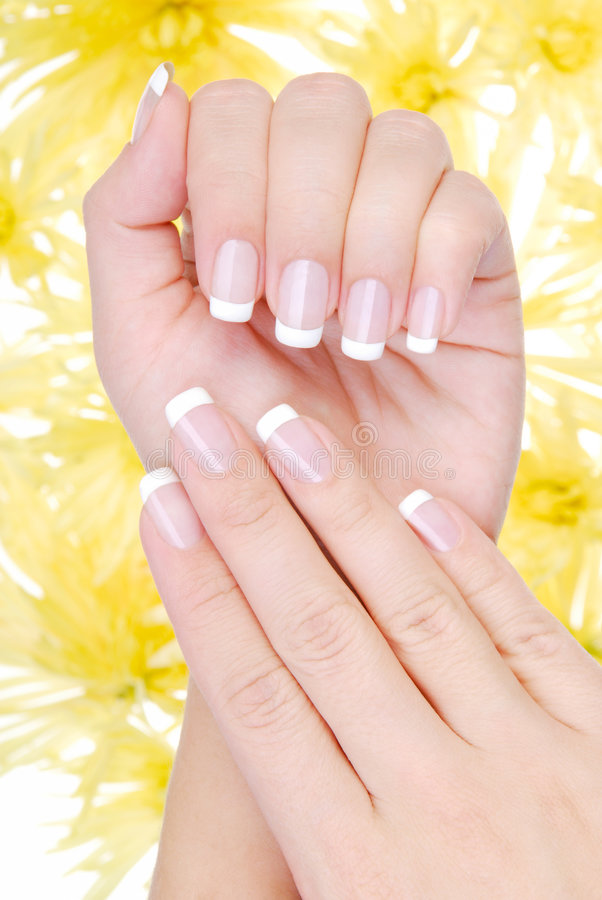 Free Beautiful France Manicure Stock Image - 6863801