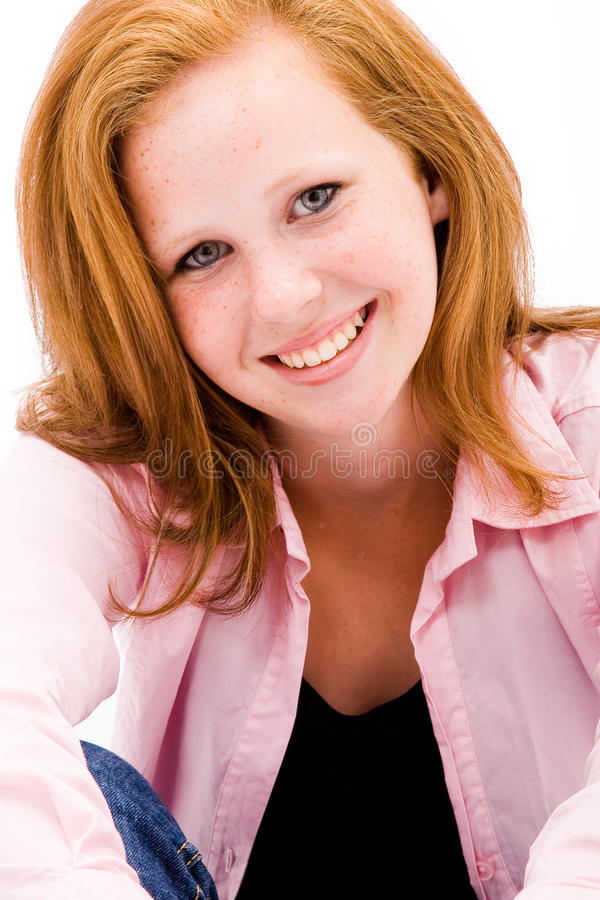 Beautiful Freckled Teen Girl Stock Photo - Image Of -7977