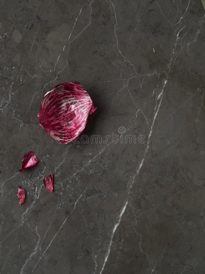 Beautiful fresh purple onion skin with stems stock images