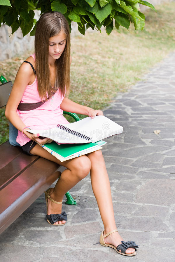 Download Beautiful Friendly Teen Student Girl. Stock Image - Image: 26919939