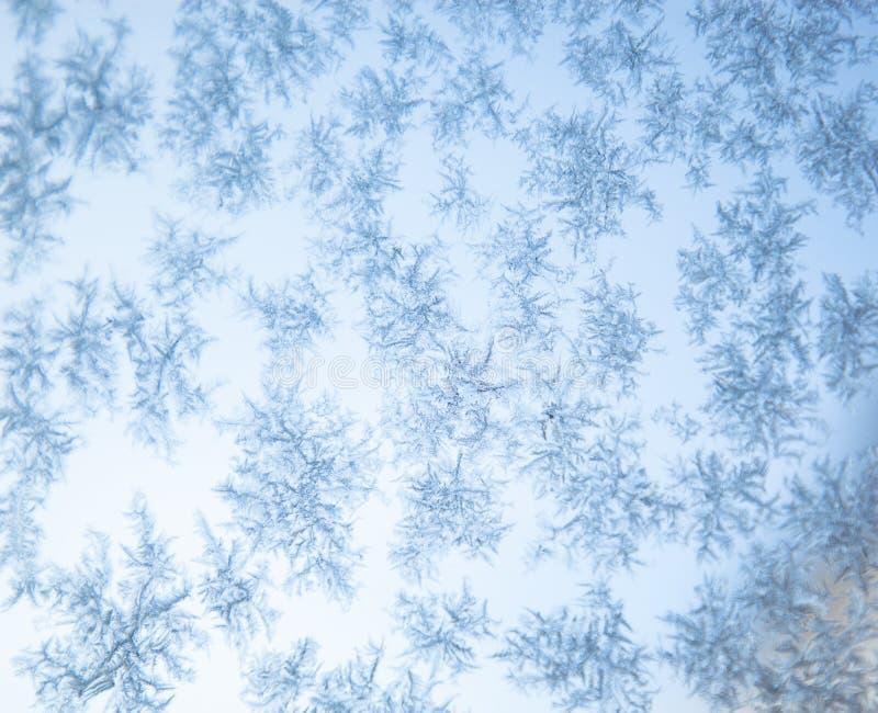 beautiful frozen snowflakes Christmas background stock illustration