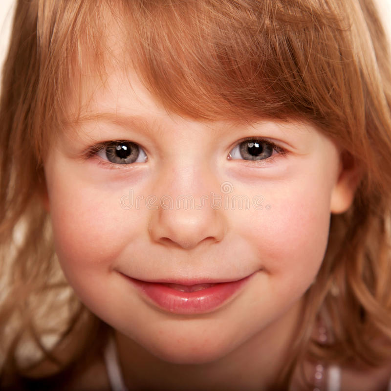 Beautiful Funny Red-haired Little Girl. Stock Images