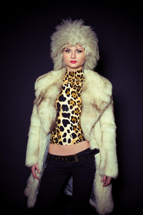 beautiful furry girl hat στοκ φωτογραφία με δικαίωμα ελεύθερης χρήσης