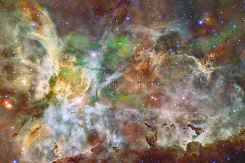 Beautiful galaxy background with nebula, stardust and bright stars royalty free stock images