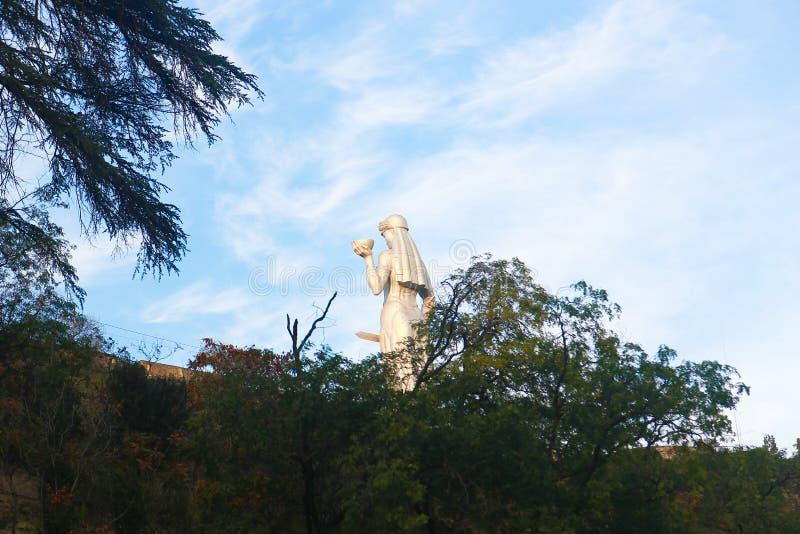 Beautiful Garden. Autumn landscape: road in the Tbilisi botanic garden stock photo