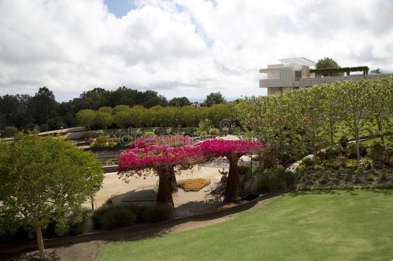Beautiful garden in Getty Center Los Angels CA royalty free stock photo