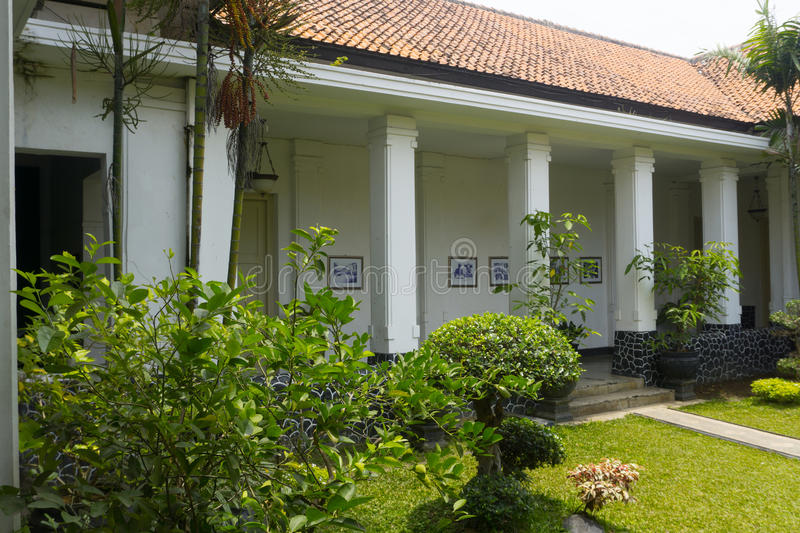 Beautiful garden with old building in Batik Museum photo taken in Pekalongan Indonesia. Java royalty free stock photos