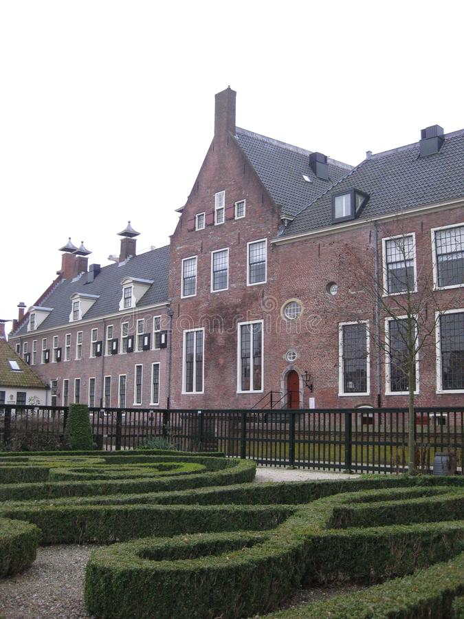 The beautiful garden Prinsentuin in Groningen, The Netherlands.  royalty free stock photo
