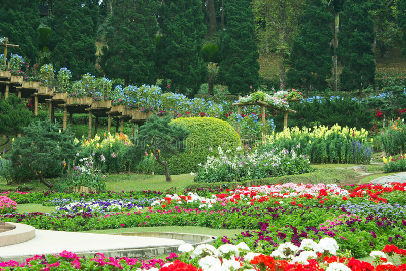 Download Beautiful garden in spring stock image. Image of attraction - 29124181