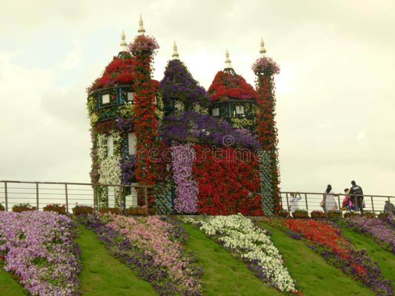 Beautiful Garden village in Dubai stock photo