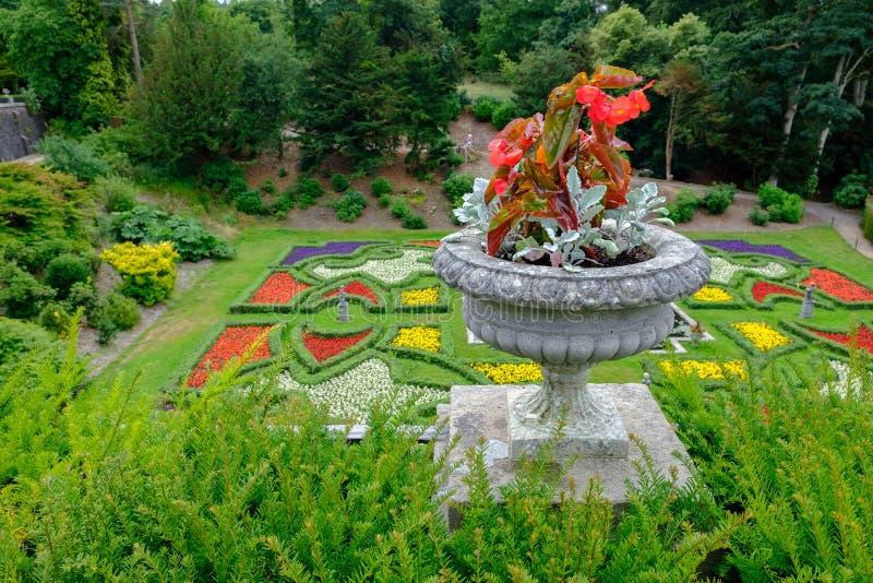 Beautiful gardens at Lyme Hall in Peak District, Cheshire, UK. Beautiful gardens at Lyme Hall stately home in Peak District, Cheshire, UK stock photography