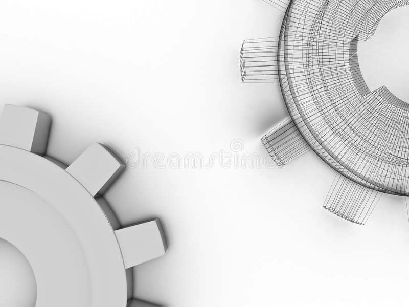 Download Beautiful gears stock illustration. Illustration of concept - 8255677