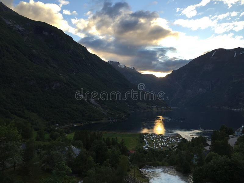 The beautiful Geiranger! stock images