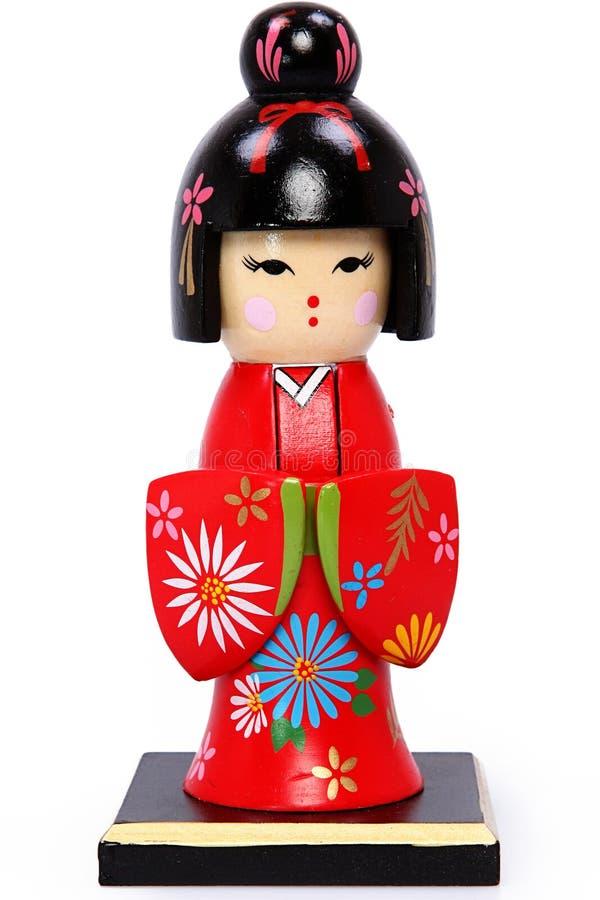 Beautiful Geisha Girl Holiday Nutcracker stock image