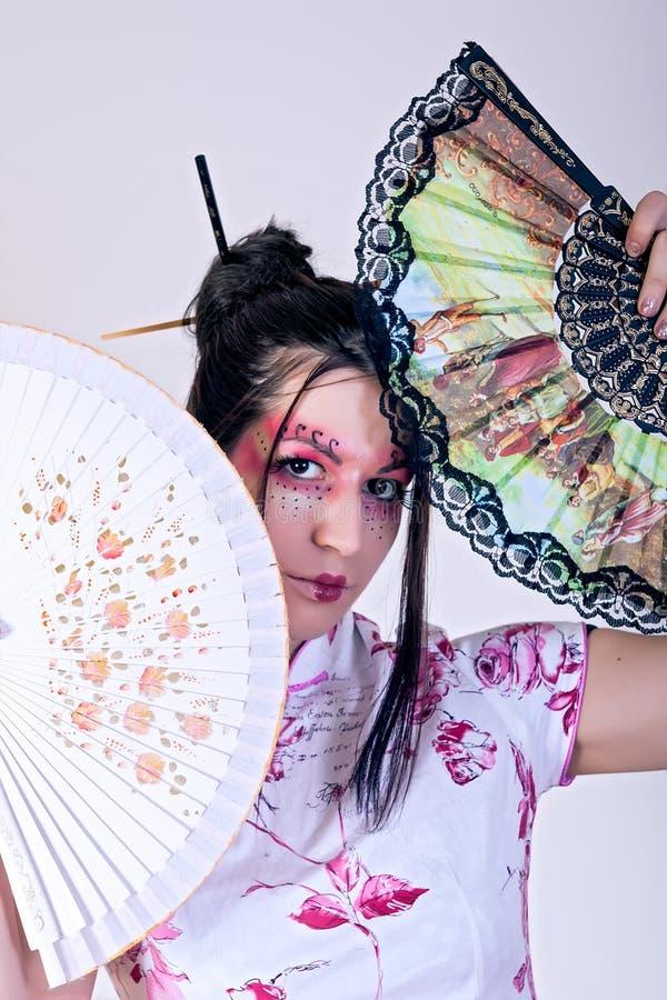 Beautiful geisha stock images