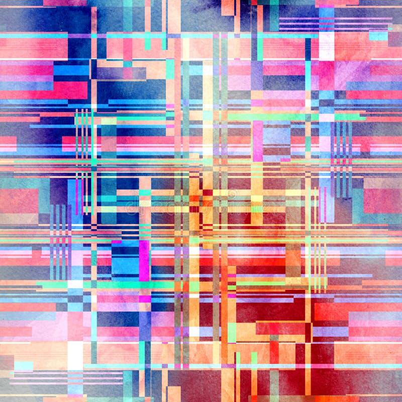 Beautiful geometric pattern of different stripes vector illustration