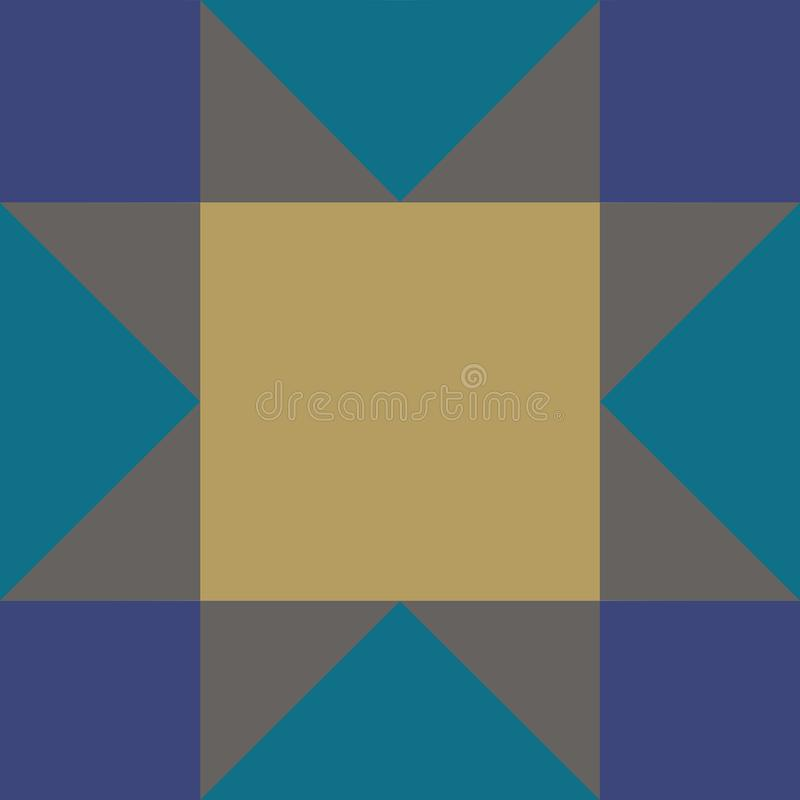 Beautiful geometry pattern square and triangle royalty free illustration
