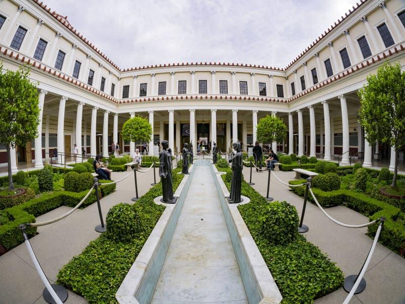 The beautiful Getty Villa stock photography