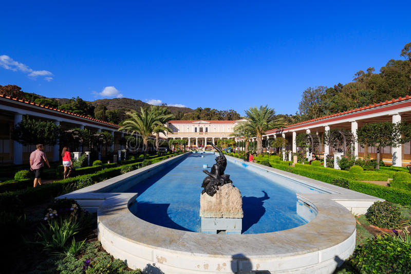 The beautiful Getty Villa stock image