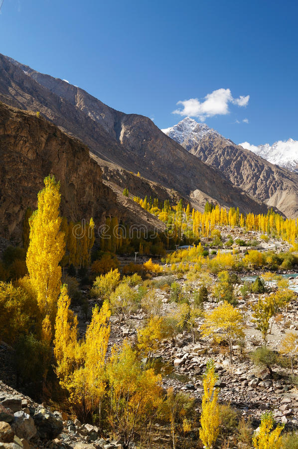 Beautiful Ghizer valley in Northern Pakistan. Asia royalty free stock images