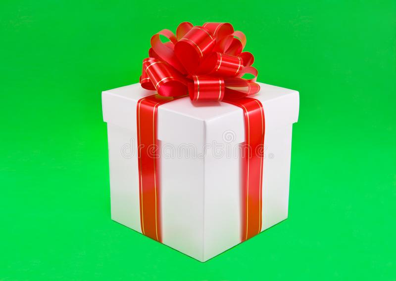 Download Beautiful Gift Box With Red Bow. Stock Photos - Image: 4048933