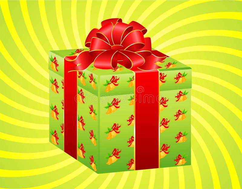 Download Beautiful Gift With A Large Bow Stock Vector - Illustration: 11263232