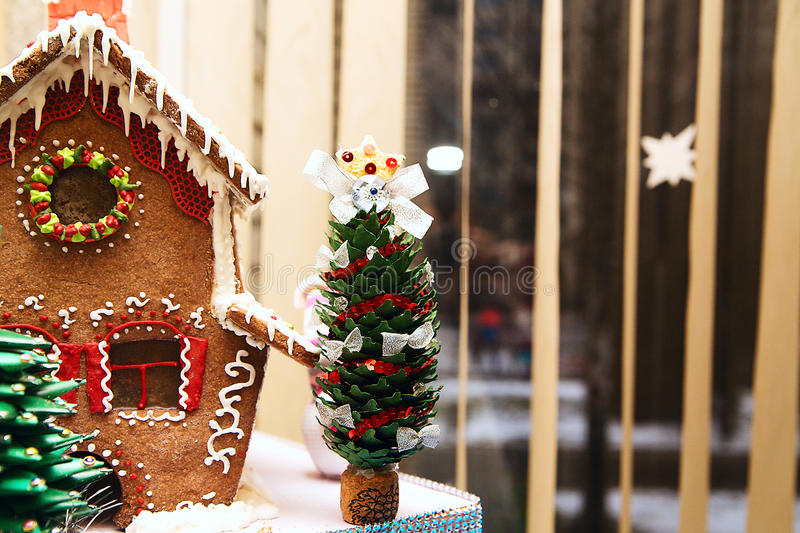 Download Beautiful Gingerbread House Stock Photo - Image: 83710436