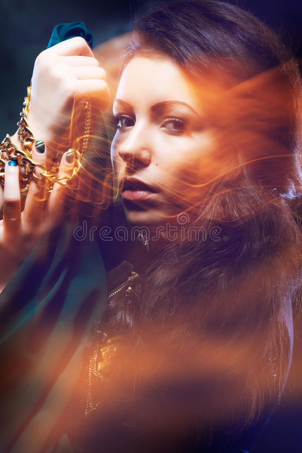 Download Beautiful gipsy woman stock image. Image of people, mysterious - 25679033