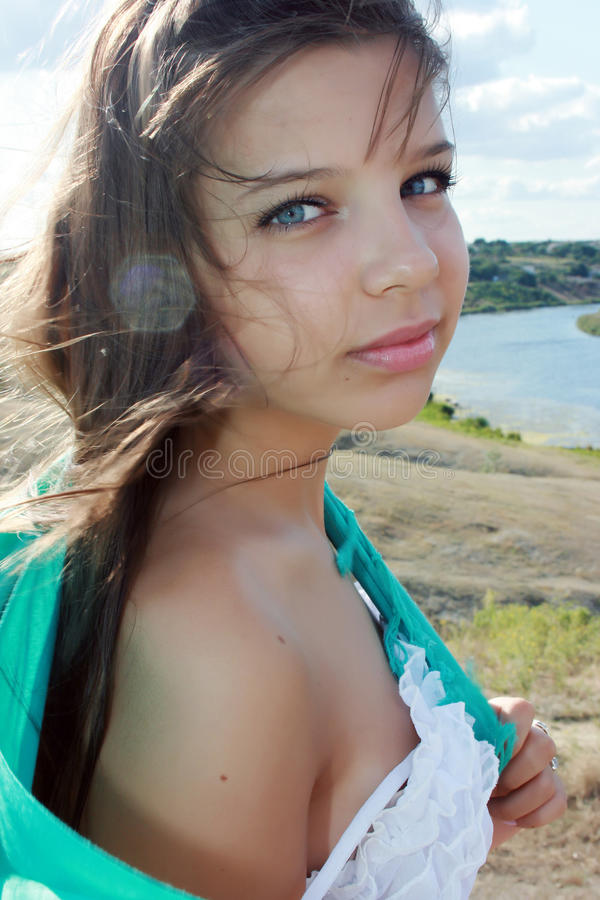 Download Beautiful girl stock image. Image of happy, touch, sunny - 10655137