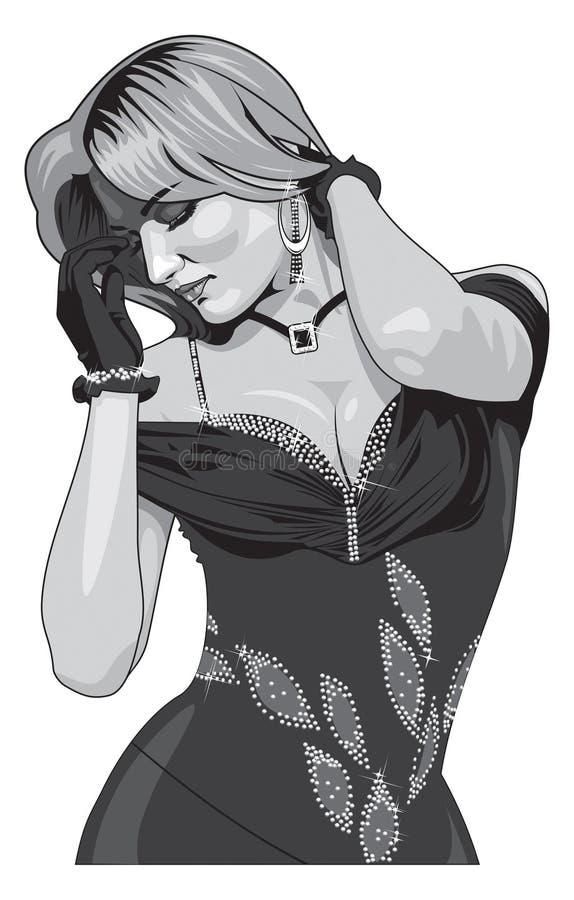 Download Beautiful girl stock vector. Image of female, european - 14186386