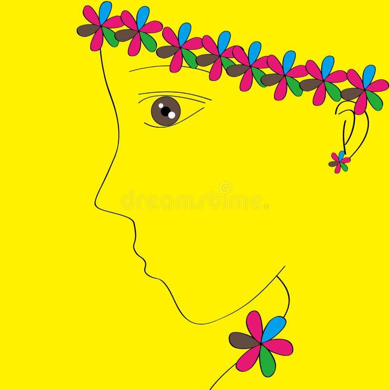 Download Beautiful girl stock illustration. Image of side, beautiful - 23806200