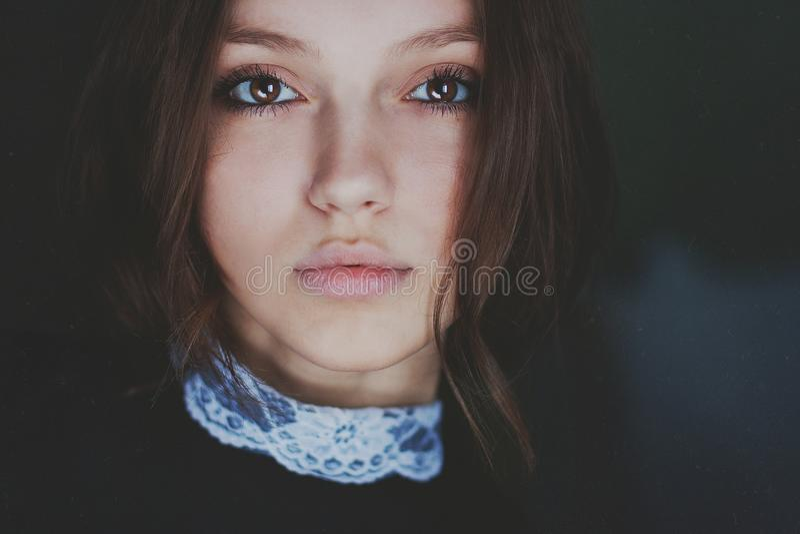 Beautiful girl. Beautiful brown-eyed girl stock photography