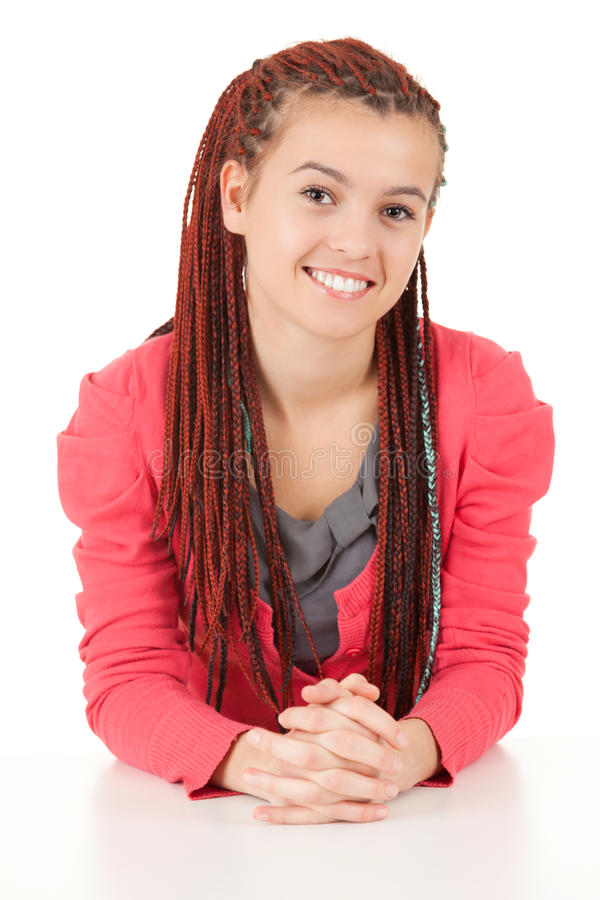 Download Beautiful Girl With African Plaits Stock Image - Image of caucasian, glamour: 26433171
