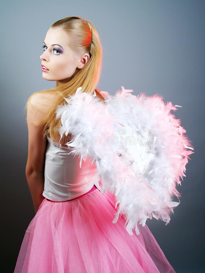 Download Beautiful Girl Of Angel With Big Wings Stock Photo - Image: 12126630
