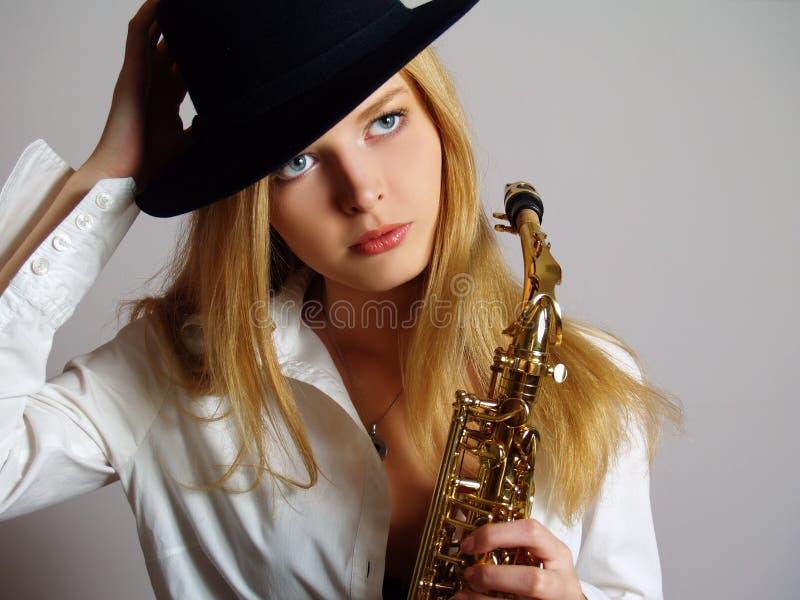 Download Beautiful Girl In Black Hat Stock Photo - Image: 11893378