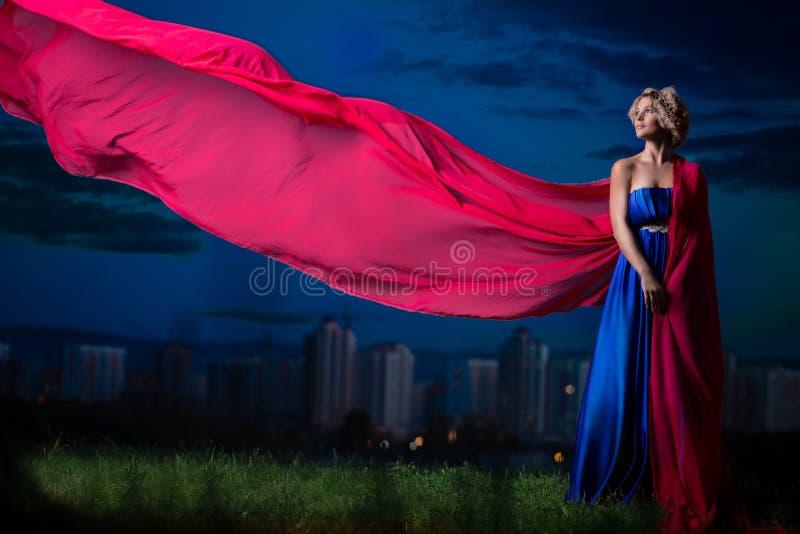 Download Beautiful Girl In A Blue Dress Stock Photo - Image of beautiful, beauty: 39515174