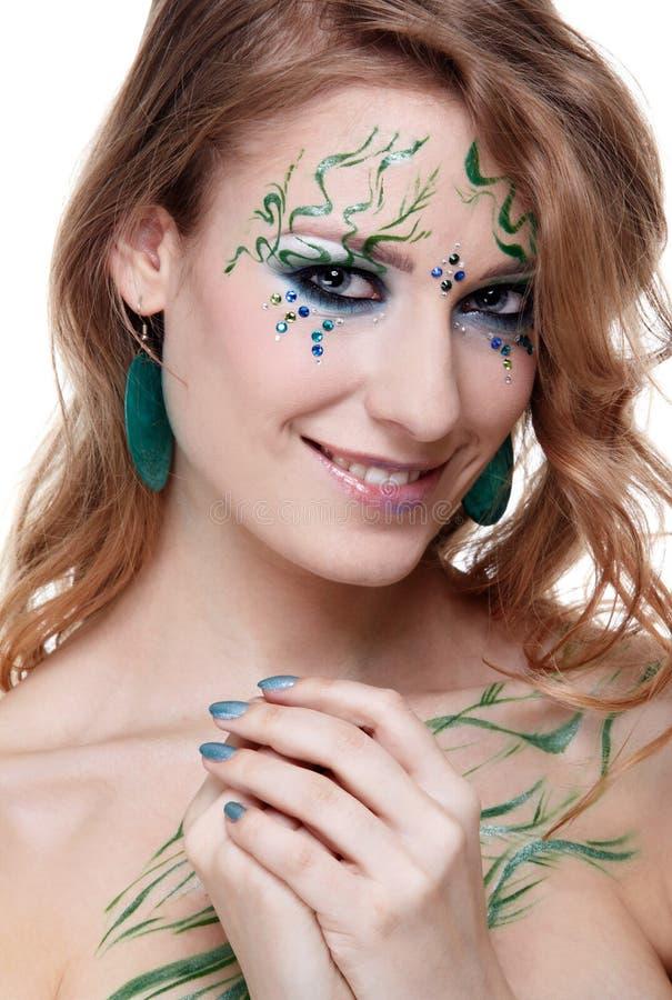 Download Beautiful Girl With Bodyart Stock Photo - Image: 14350490