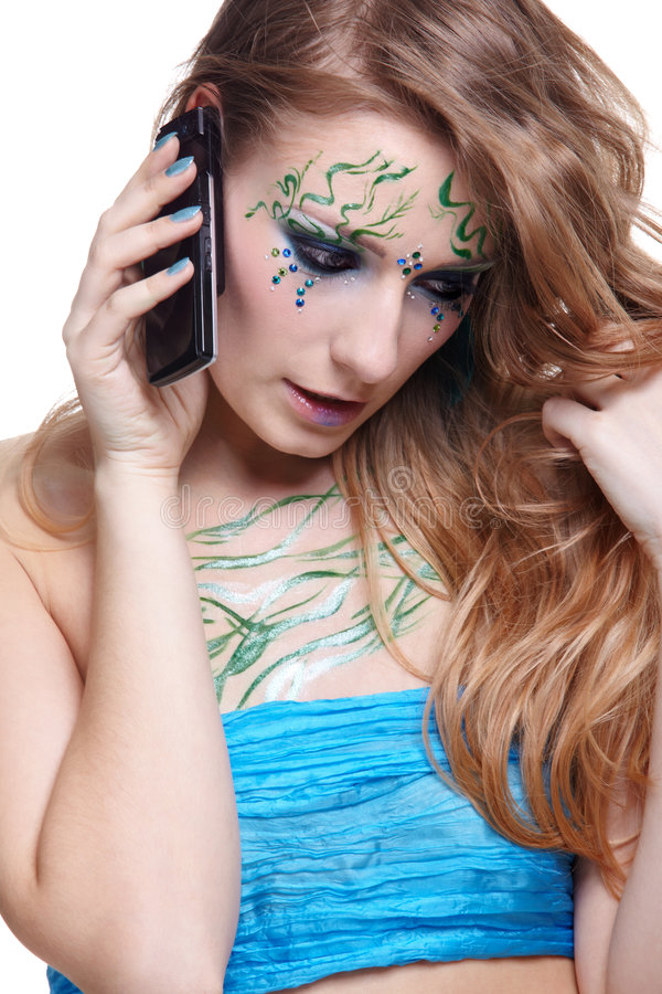 Beautiful Girl With Bodyart Royalty Free Stock Photography