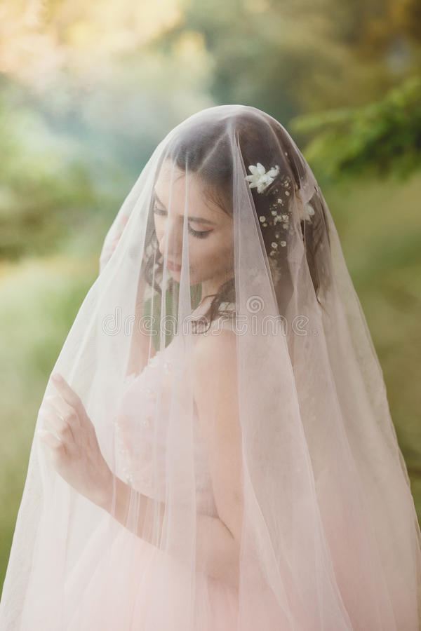 Beautiful girl bride royalty free stock images