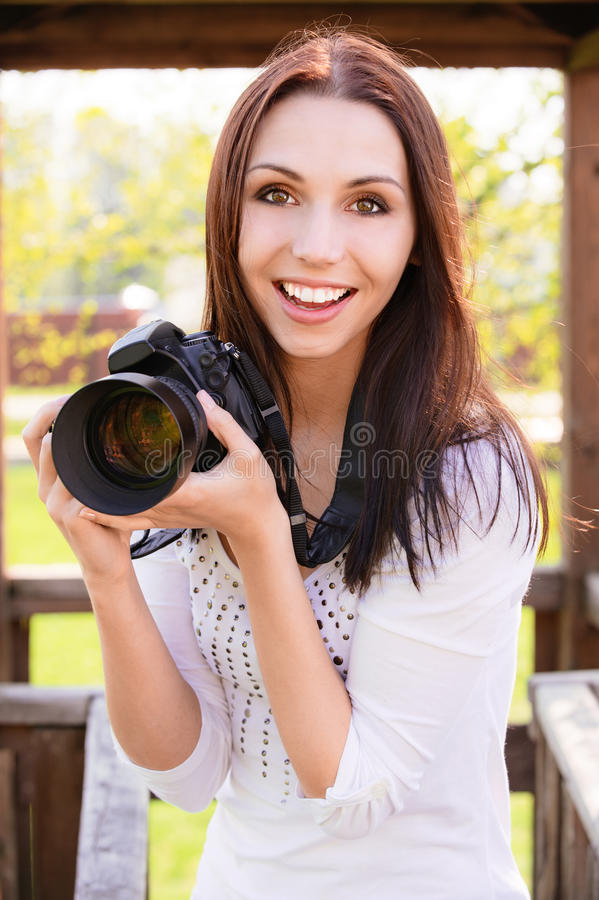 Download Beautiful Girl With Camera Royalty Free Stock Photography - Image: 14535067