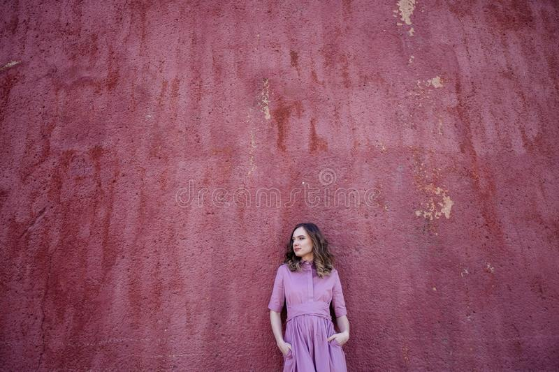 Beautiful girl in the city. royalty free stock photo