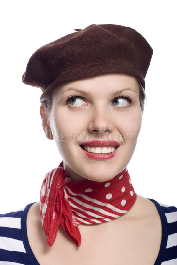 Beautiful Girl In Classic 60s French Look Stock Photo - Image of ...